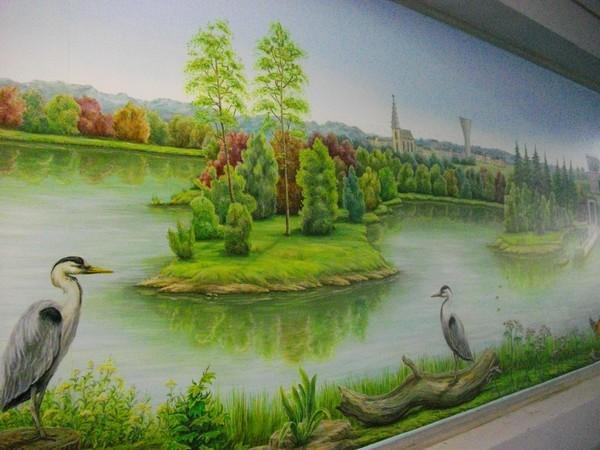 Fresque Usine d'eau potable 8m x 2m