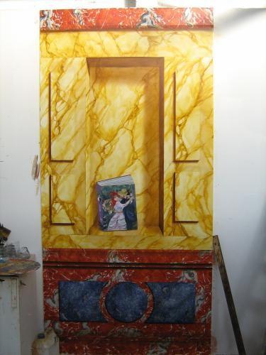 Composition de faux marbre