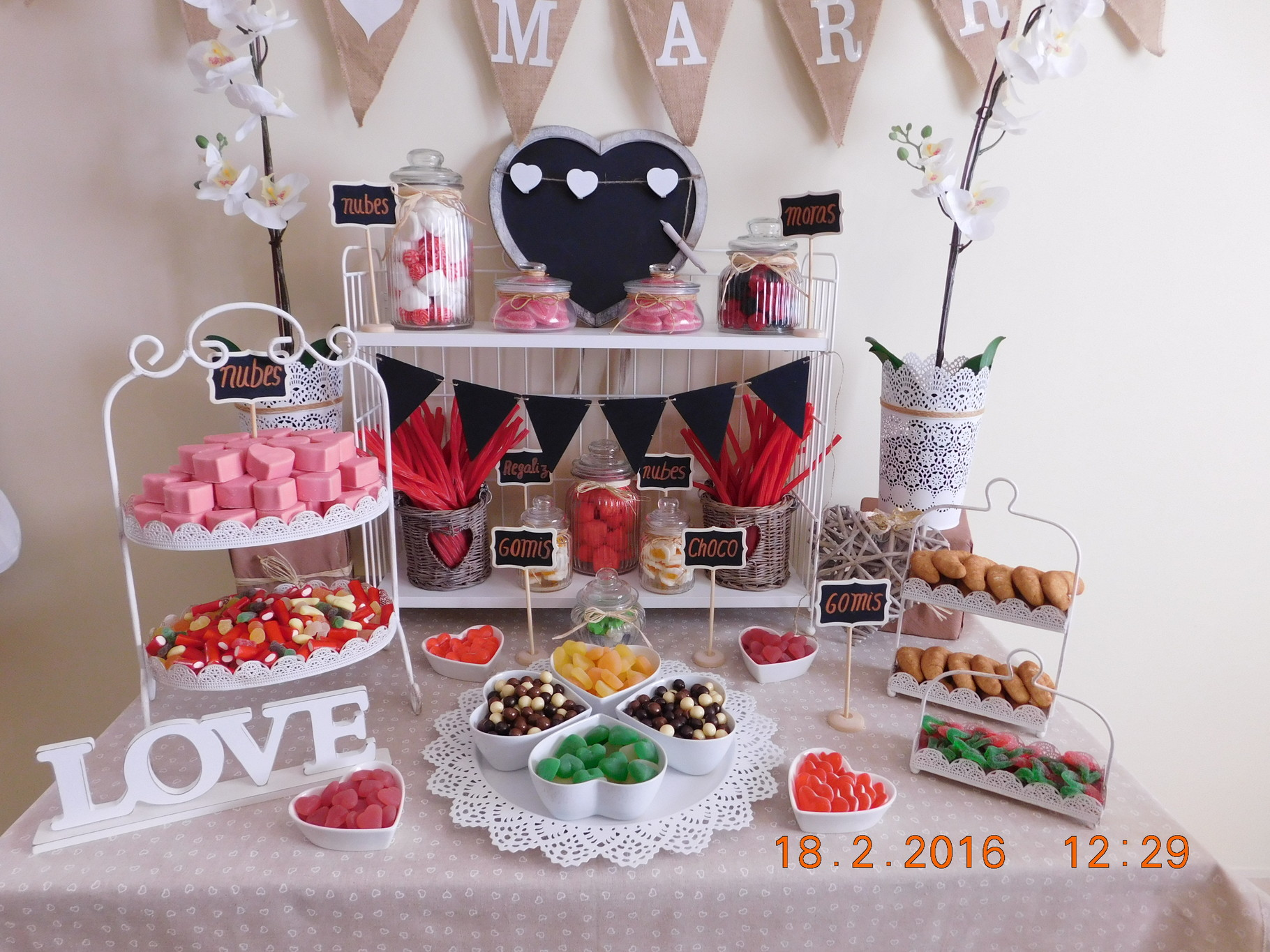 Mesa De Chuches O Candy Bar Especial Para Bodas The