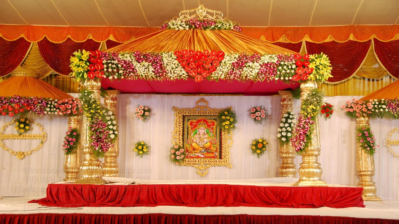 Best tirumala marriage contractors good wedding planner for Decoration images
