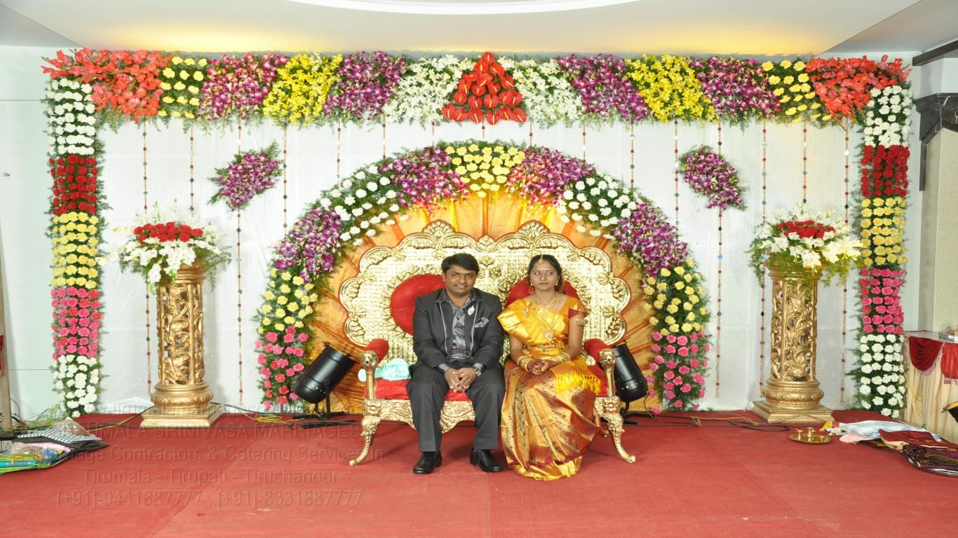 tirumala marriage contractor - reception