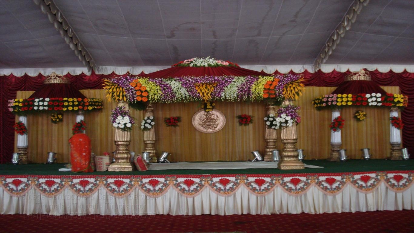 TIRUMALA MARRIAGE CONTRACTOR   Kalyana Mandapam Decorations
