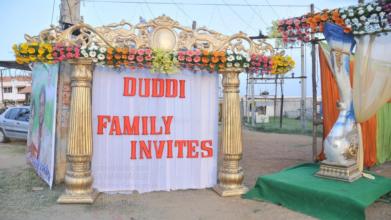 tirumala marriage contractor - name board & entrance 110