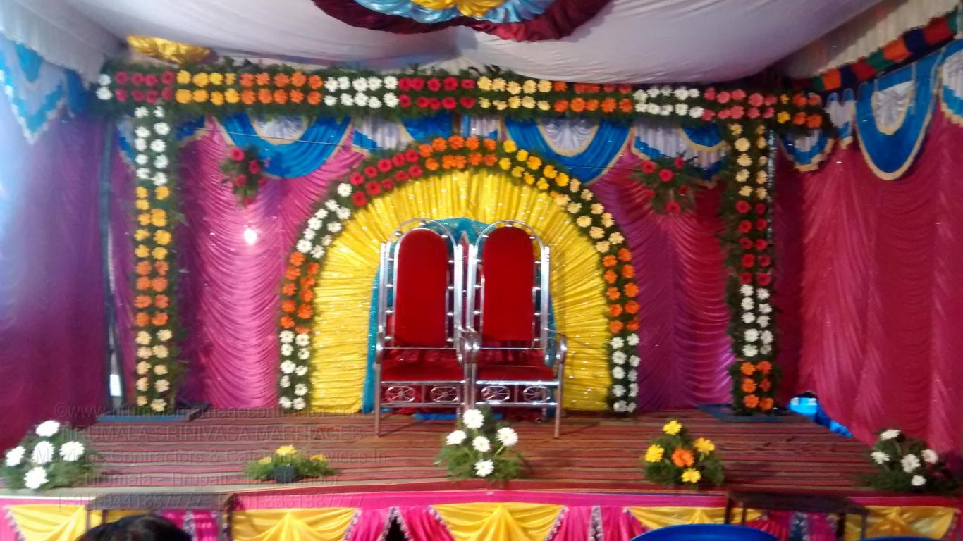 TIRUMALA MARRIAGE CONTRACTOR  Reception Decorations
