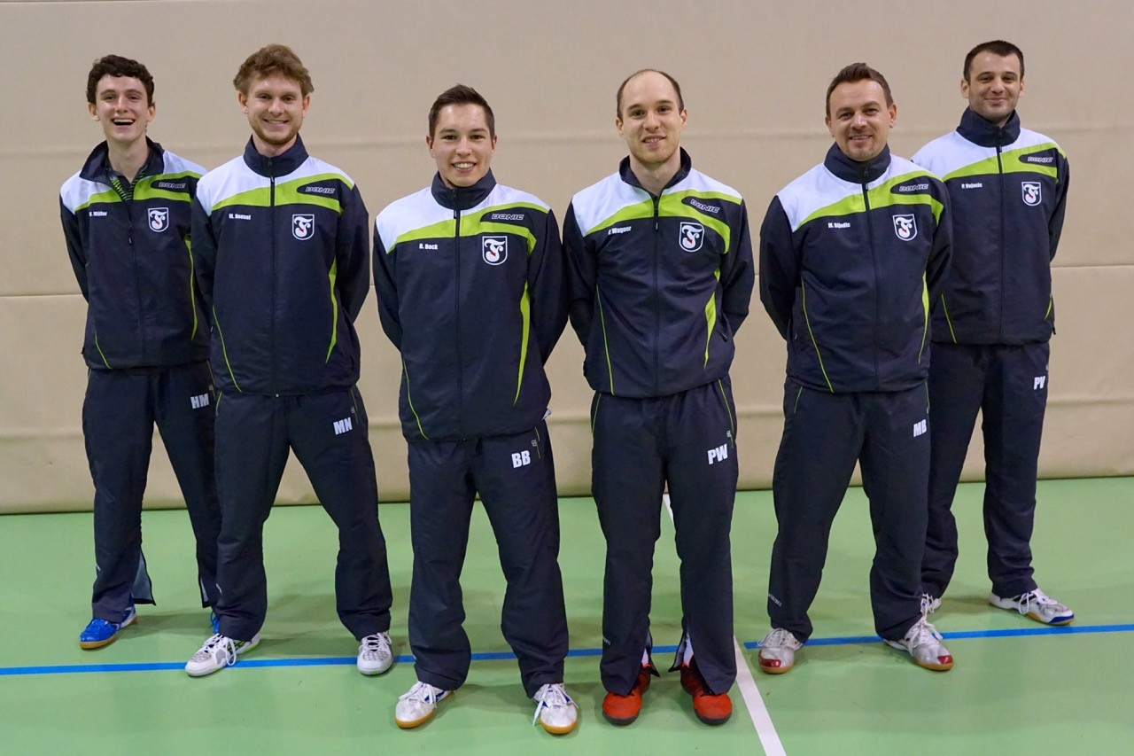 1. Herren 2015/16: Henry Müller, Moritz Nensel, Bastian Beck, Patrick Wagner, Mirhet Bijedic, Philippe Vujacic