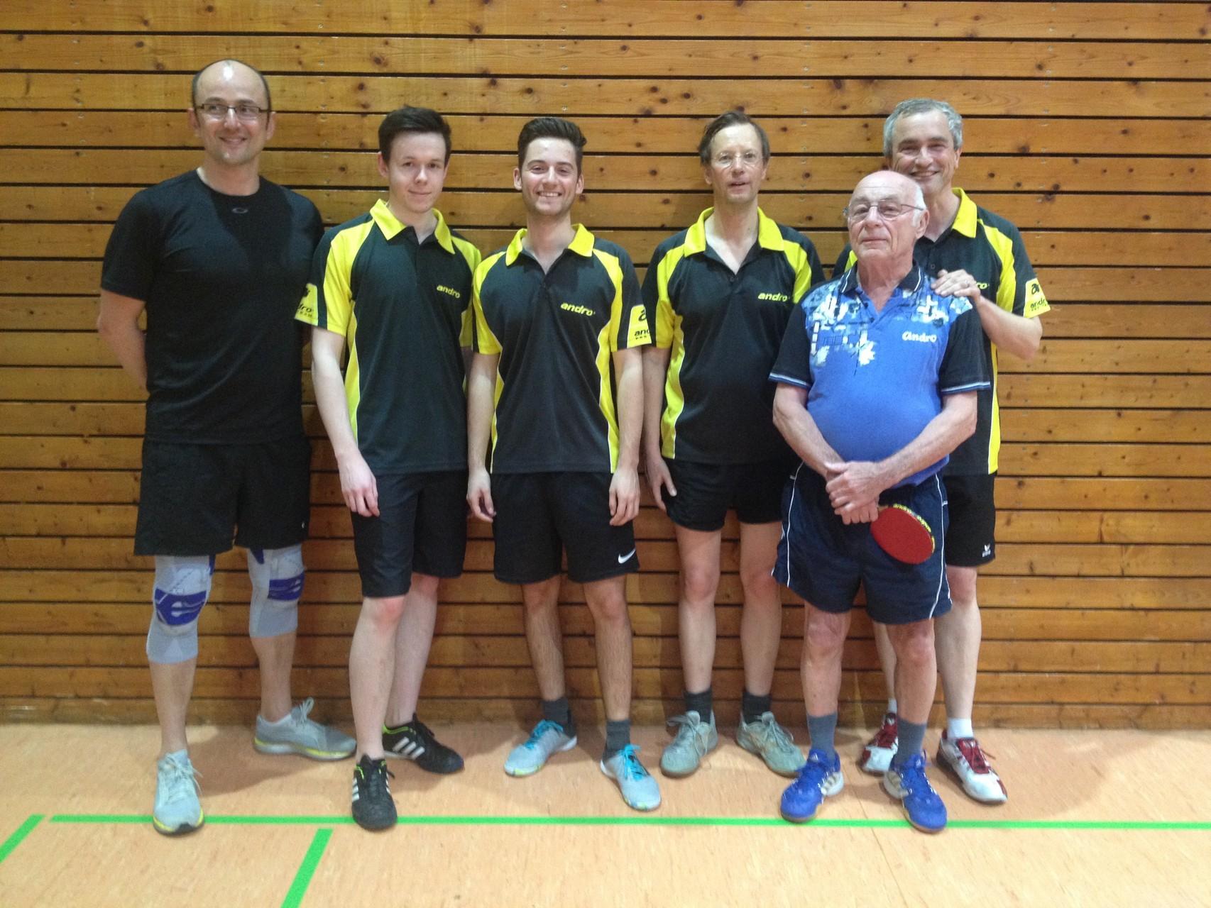 2. Herren 2015/16; Vassilli Pustovarov, Robin Stehle, Dominik Baitinger, Bernd Müller, Willi Neubig, Klaus Grieb
