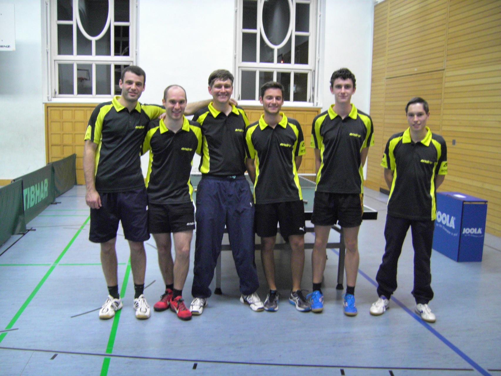 1. Herren 2014/15: Philippe Vujacic, Patrick Wagner, Oliver Seng, Dominik Baitinger, Henry Müller, Bastian Beck