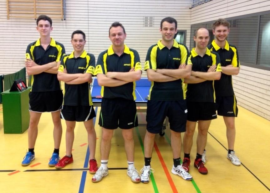 1. Herren 2015/16: Henry Müller, Bastian Beck, Mirhet Bijedic, Philippe Vujacic, Patrick Wagner, Moritz Nensel