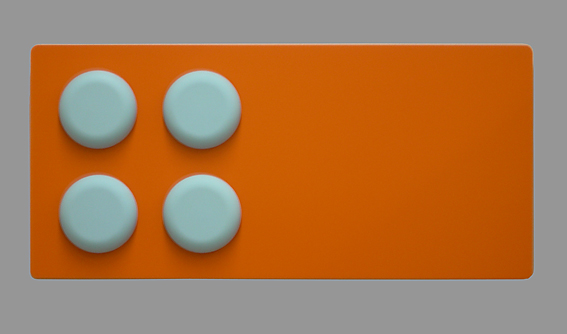 blue dots / orange ground - 17 MDF, Lack, Kunstoff - 30 x 63 x 5