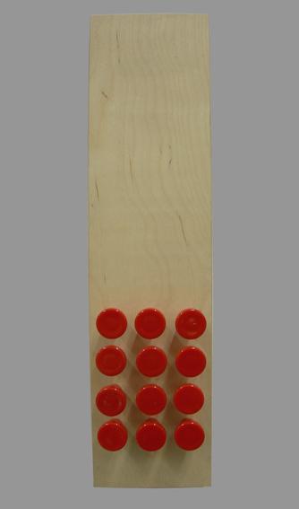 zwölf - 16 - Holz, Kunststoff - 40 x 10 x 6
