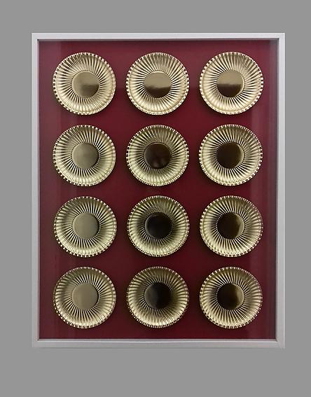 Tafel - 17 - Papier, Pappe, Glas, Holz - 93 x 73 x 5
