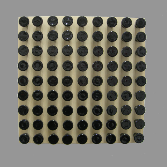 81 black buttons - 15 - Holz, Metall, Kunststoff - 30 x 30 x 5,5