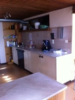Küche mit Kaffee-Ecke