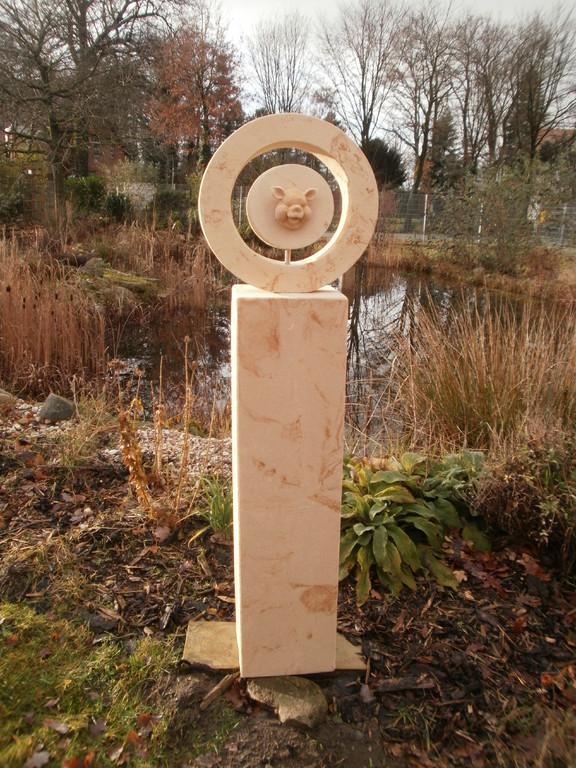 """Stele (100 cm) """"Willi"""" (Aufsatz Dm 40 cm) 140/24/24 cm Art.-Nr. 551s"""