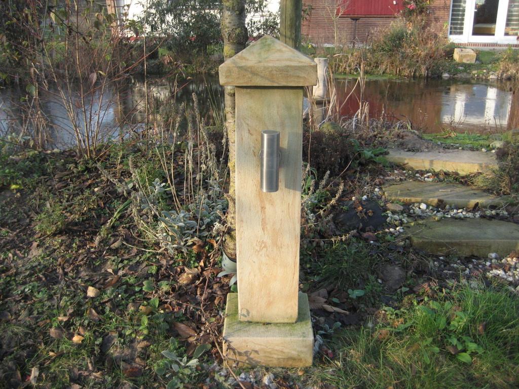 """Stele (100 cm) """"up and down"""" mit Abdeckung (20 cm) 120/24/24 cm Art.-Nr. 800s"""