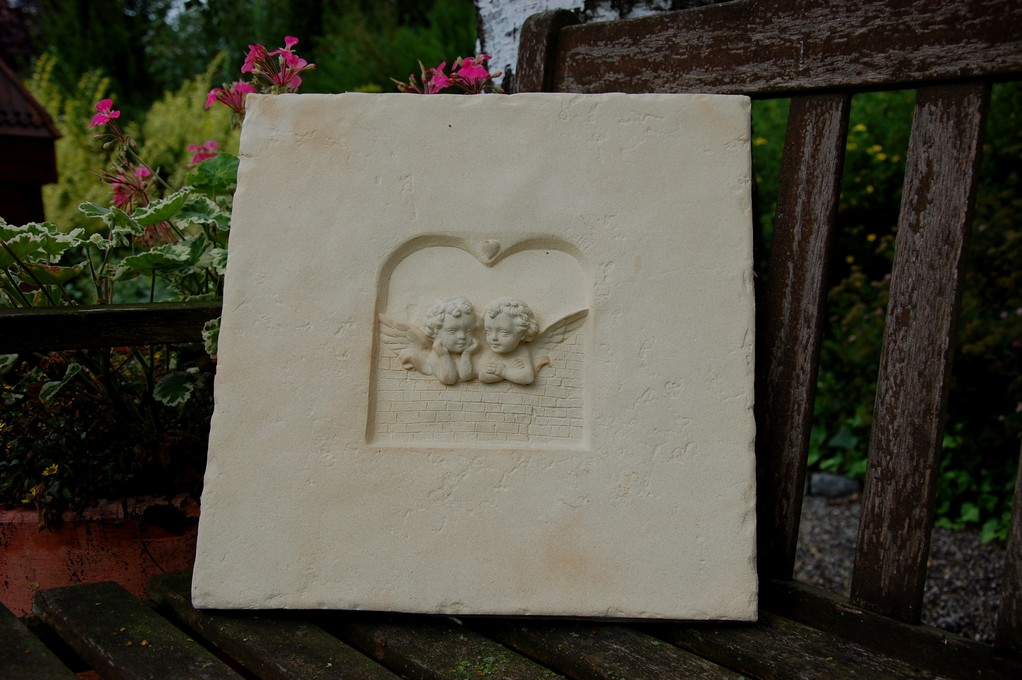 Wandbild zwei Engel 37/37 cm 7,400 kg Art.-Nr. 300s