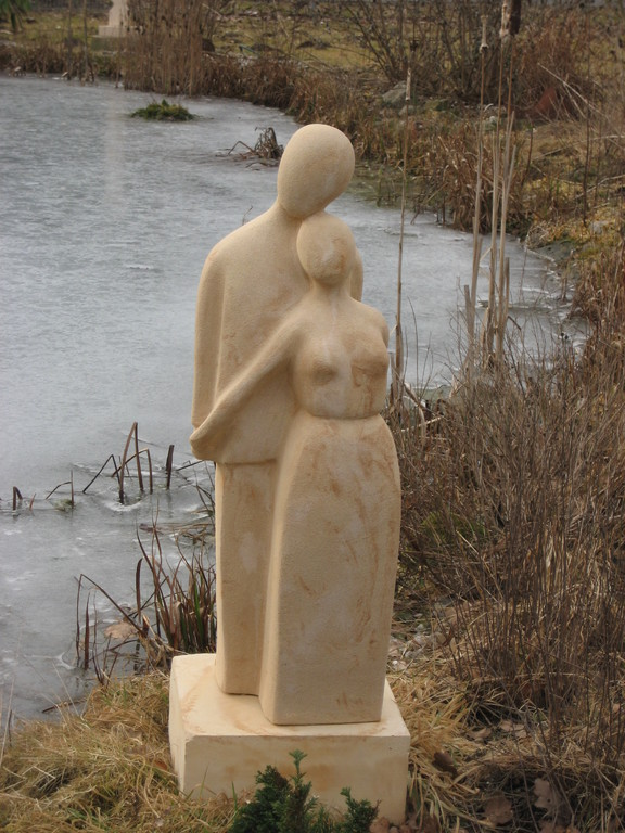 Liebespaar (80x25 cm) Sockel 30x30x13 cm Art.-Nr. 134s