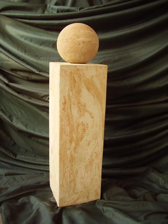 Stele (100 cm) mit Steinkugel (Dm 20)  120/20/20 cm Art.-Nr. 543s