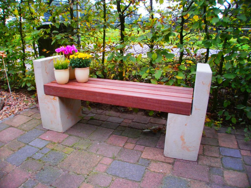 Gartenbank Hamburg 65h/120b/35t Bongossi-Holz 9x9 Art.-Nr. 555s