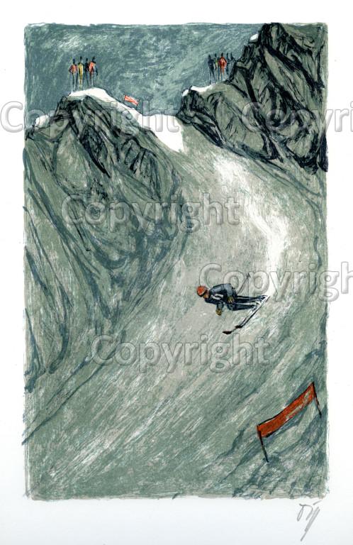 Nr.344 Lauberhornrennen Hundschopfpassage