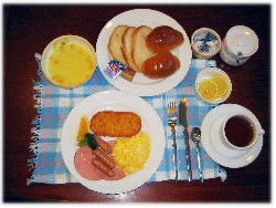 苗場スキー場近く、シャレーカスケードの朝食