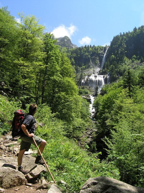 Randonnée à la cascade d'Ars, départ d'Aulus les Bains