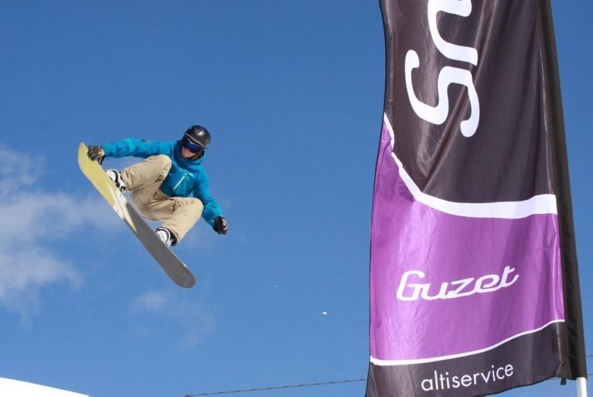Snowpark de la station de ski de Guzet Neige