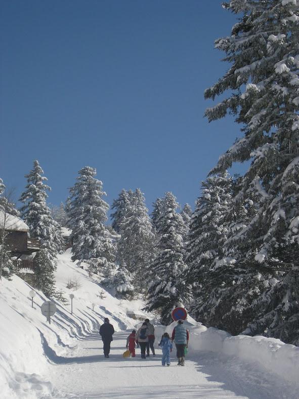 Vue hivernale en Couserans