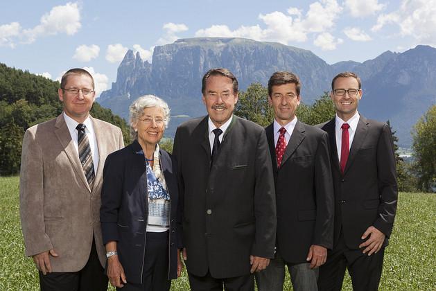 Fam. Loacker & Zuenelli v.l.n.r.: Ulrich Zuenelli, Christine Zuenelli-Loacker, Armin Loacker, Andreas Loacker, Martin Loacker