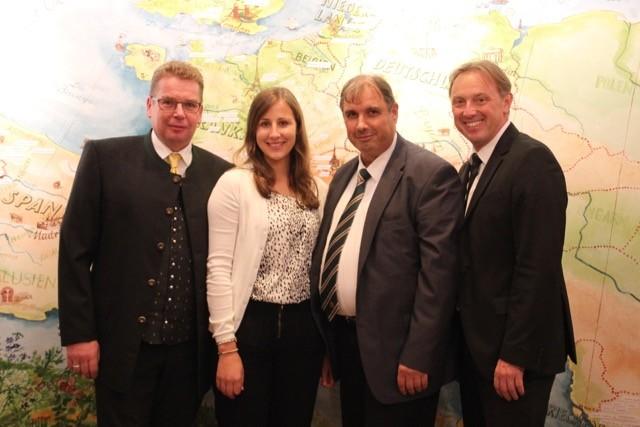v.l.n.r.: Hans-Peter Chisté, Birgit Mooshammer, Alexander Heinz, Martin Widemann