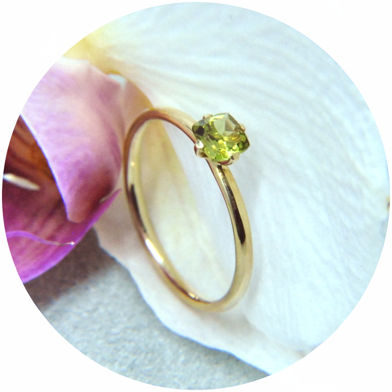 "Ring ""Peridot"", 585/- Gold, Peridot"