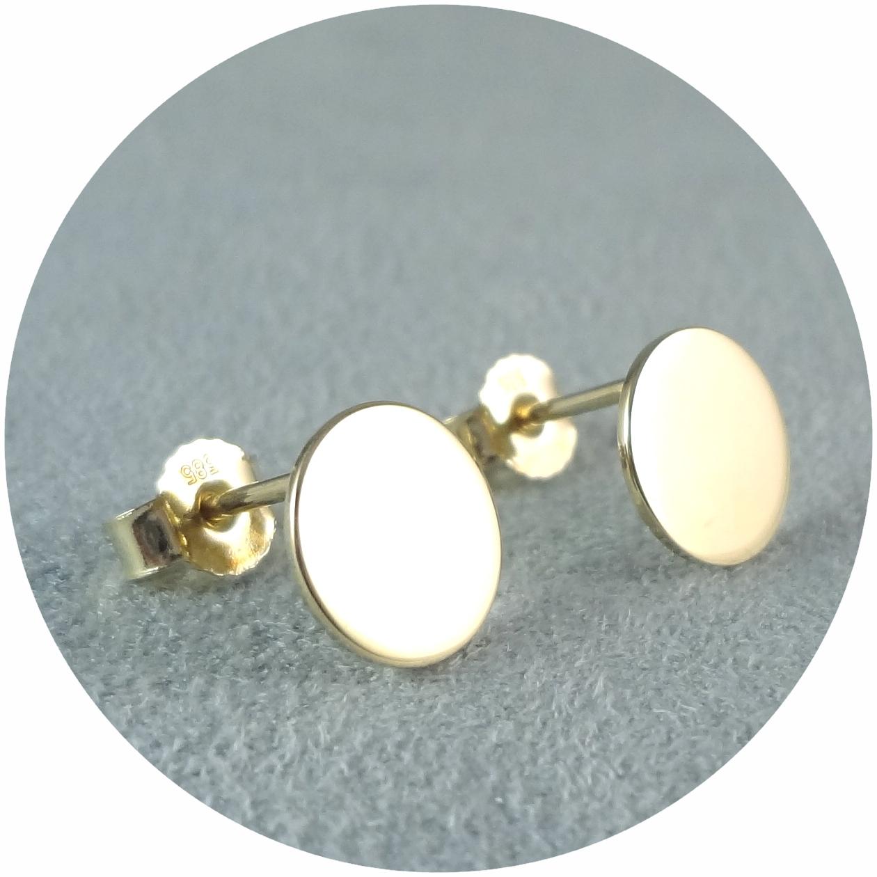 """Ohrstecker """"Coins"""", 585/- Gold"""