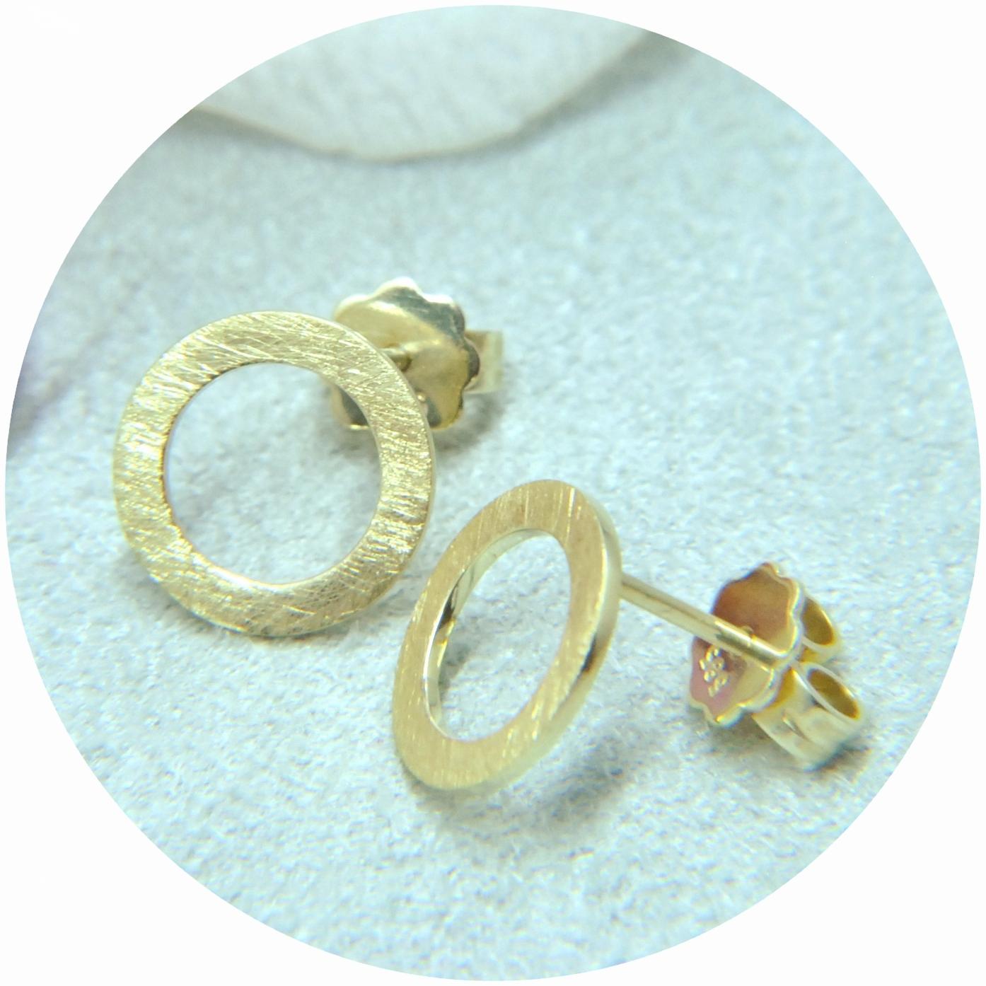"""Ohrstecker """"Kreis"""", 585/- Gold"""