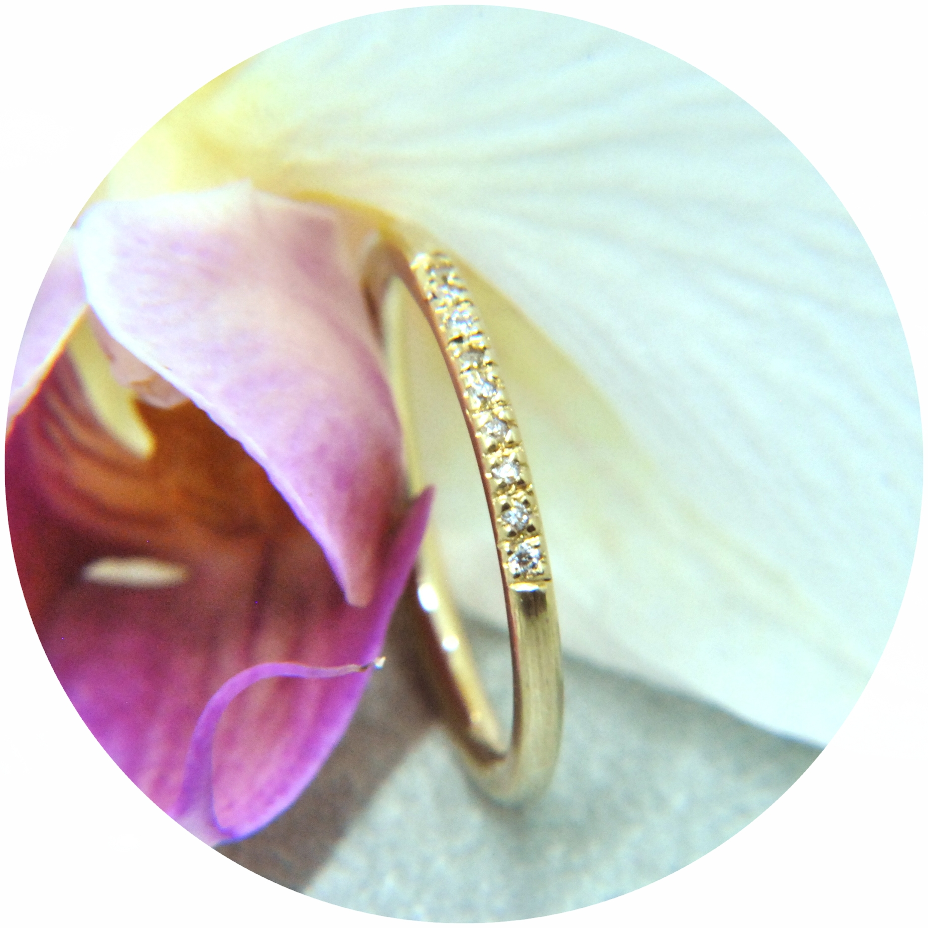 Verlobungsring, 585/- Gold, 9 Brillanten