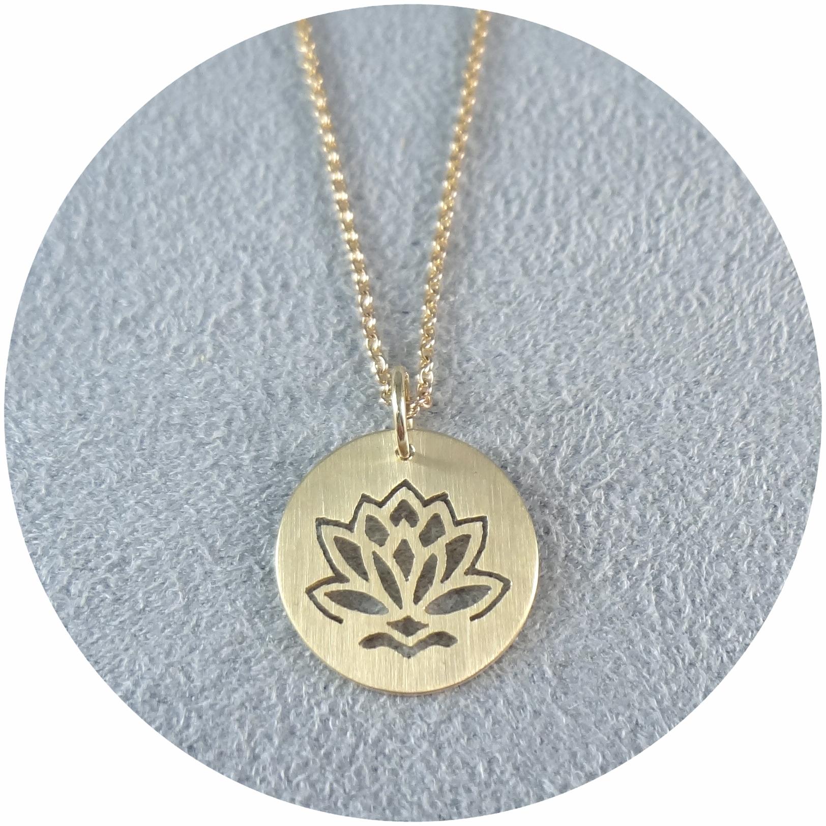 """Anhänger """"Goldener Lotus"""", 585/- Gold"""