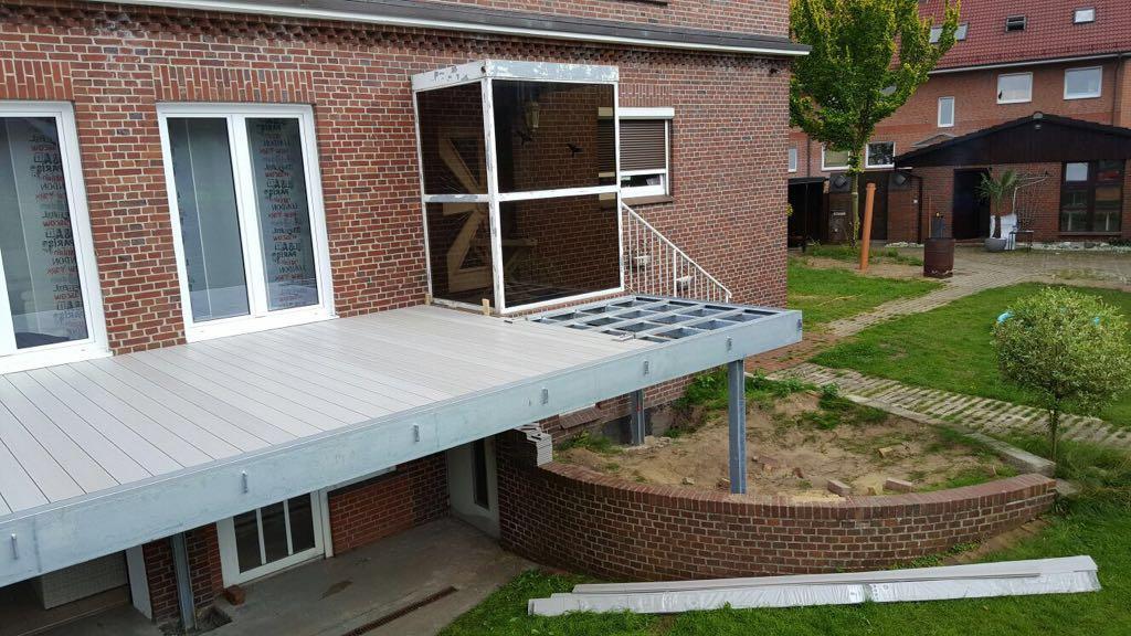 WPC-Terrassendiele ummantelt, 143mm x 22mm, höchste massive Qualitiät