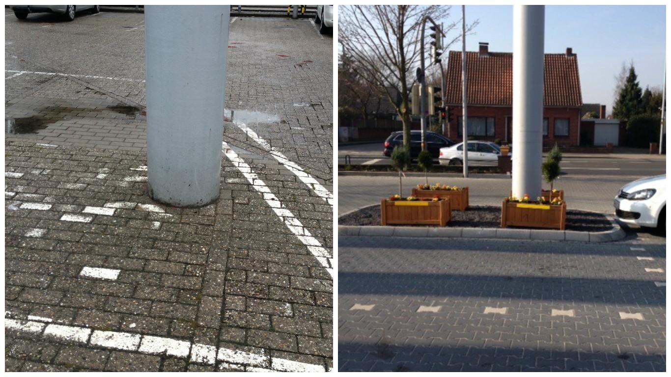 Parkplatzanlage // Vorher - Nachher