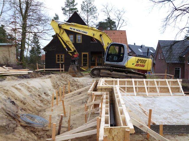 Einschalung für Betonwände bei Häusern mit mehreren Ebenen