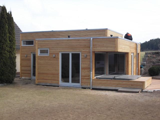 schlüsselfertiges Gartenhaus in Holzrahmenbauweise