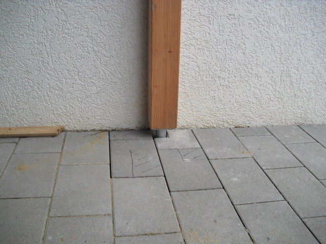 Punktfundament eines Carports