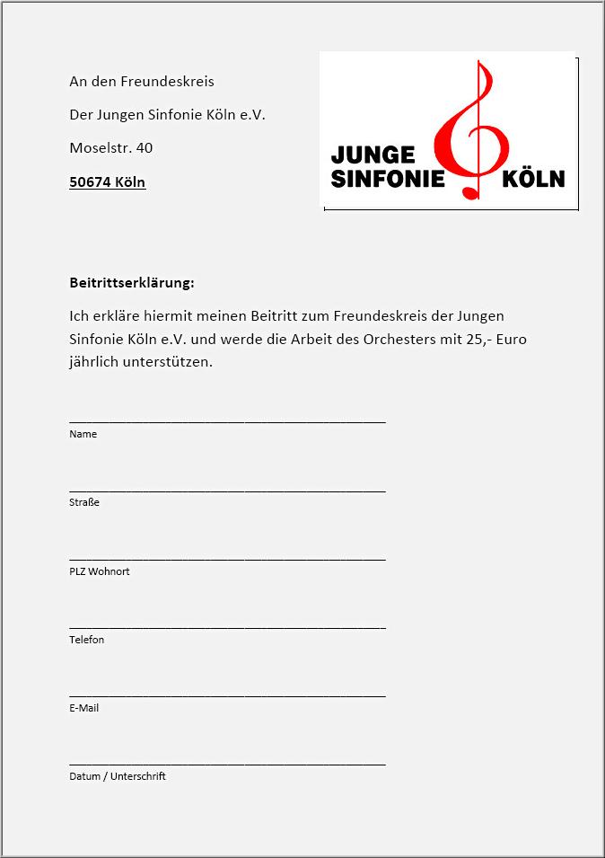 Bitte das Schreiben anklicken und die Beitrittserklärung im PDF-Format herunterladen und ausfüllen