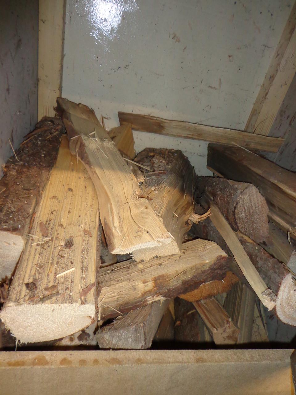 Holzvorrat für Dampferzeuger