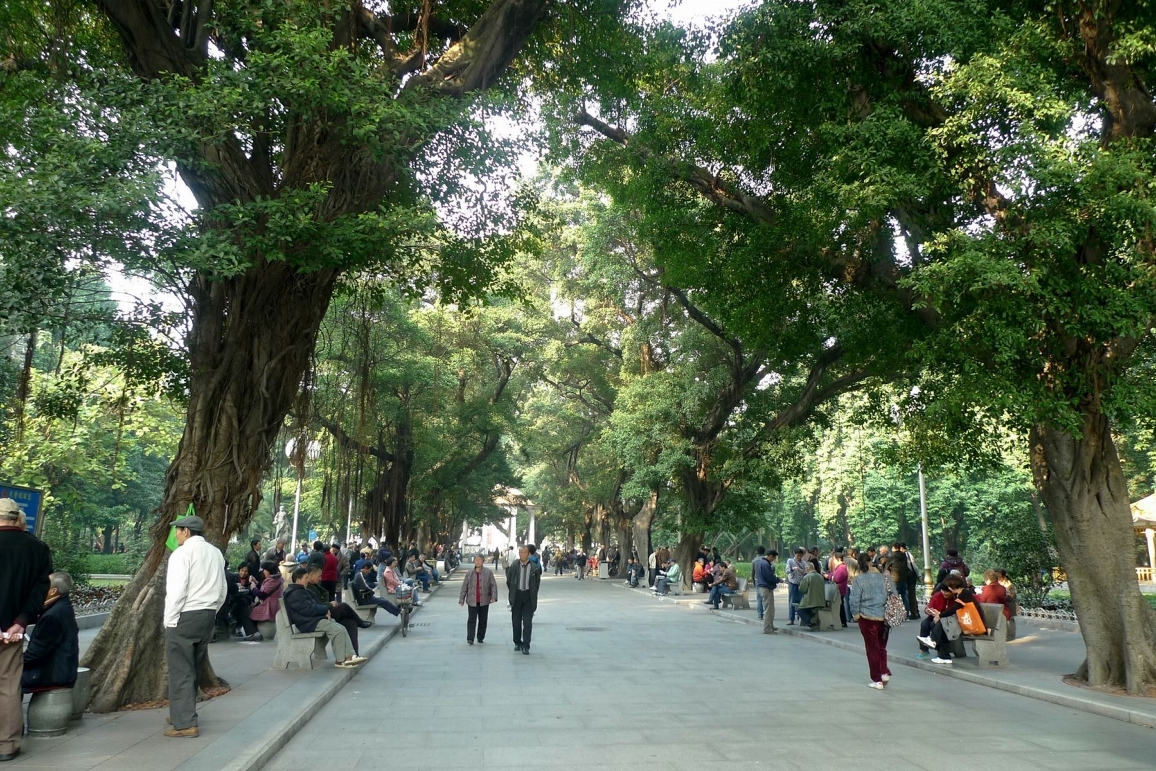 People's Park, central walk