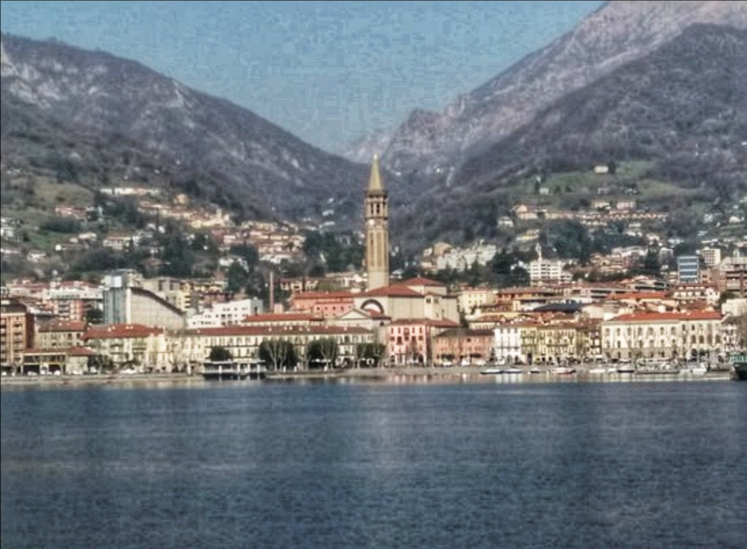 Lecco, at the SE end of the Lake