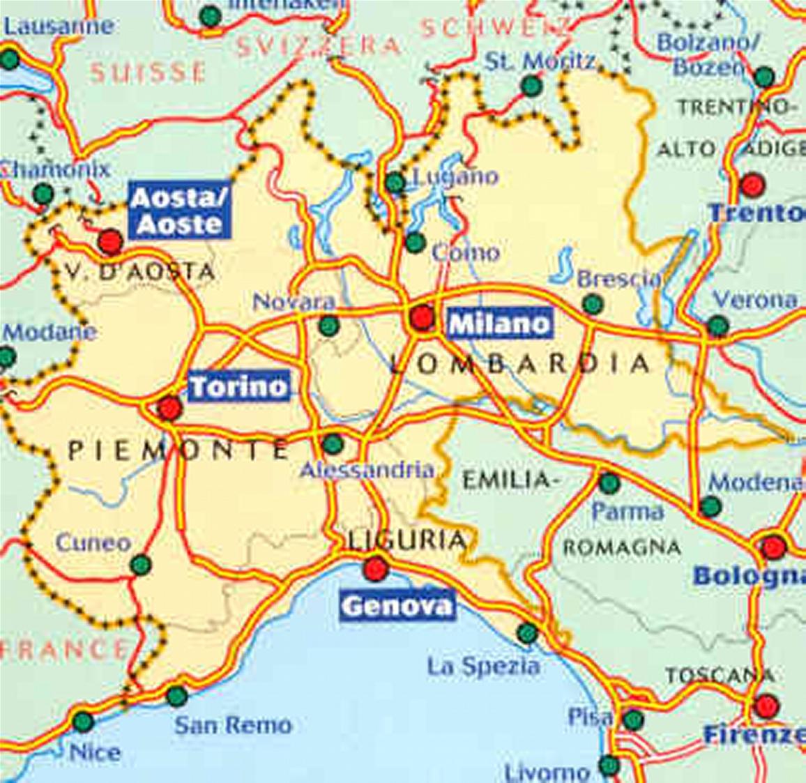 Lombardia & Piemonte Provinces