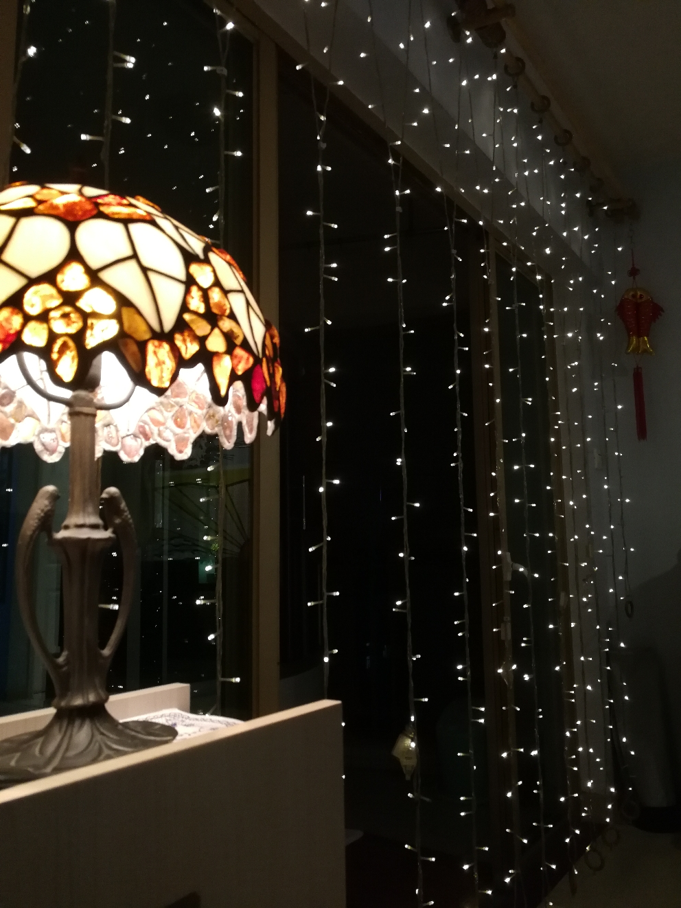 "Our Starlight ""Curtain"" and Amber Lamp"