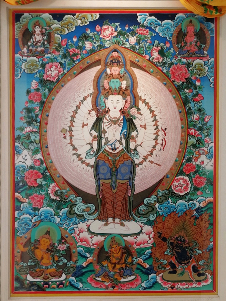 Tibet Thanka (done by a friend) between our bedroom doors