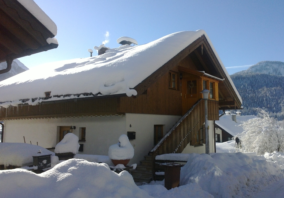 "The entry to our ""Mittenwald-Lodge"", as seen in winter"