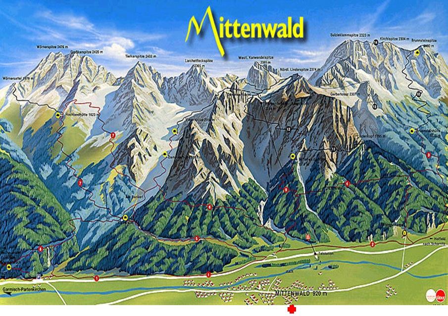 Karwendel-Panorama - wie von unserer Loggia