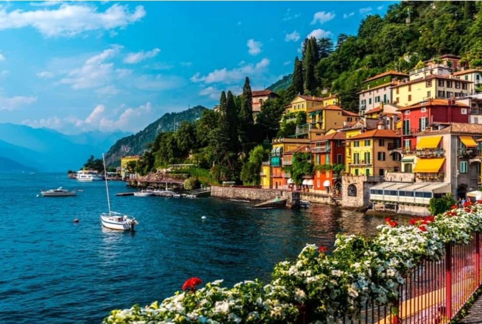 Varenna, our Railway Station, reachable by ship
